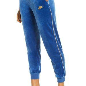 Nike Pants XL Blue Velour Joggers Athleisure NWT
